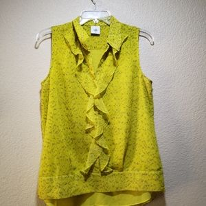Cabi lime green top